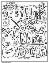 Coloring Pages Nurse Nurses Nursing Printables Thank Week Care Books Classroomdoodles Perfect Way Much sketch template