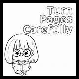 Coloring Pages Manners Preschool Printable Library Rules Care Printablee sketch template