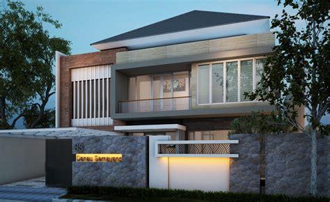 desain rumah minimalis  lantai  batu alam cireb