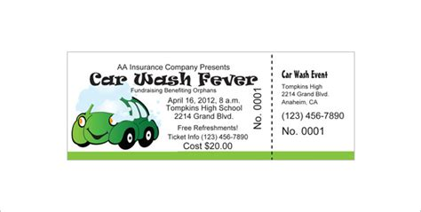 free car wash ticket template ticket templates 99 free word excel pdf psd eps formats free premium templates