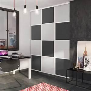 Porte De Placard Coulissante : porte de placard coulissante gris galet gris graphite ~ Edinachiropracticcenter.com Idées de Décoration