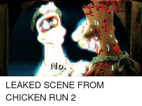 Chicken Running Meme - no leaked scene from chicken run 2 run meme on sizzle