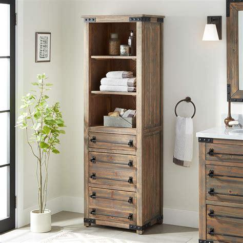 Bathroom Linen Storage Cabinets by Linen Storage Cabinet Signature Hardware