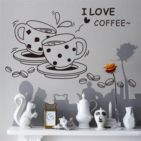 stickers muraux cuisine i coffee wall papers home decor wall stickers