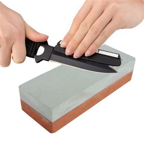 Dual Double Sided Knife Sharpening Sharpener Wet Stone