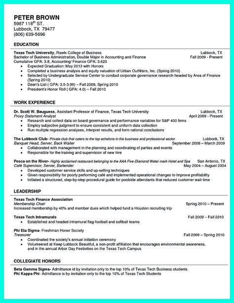 College Student Resume Exles by Best College Student Resume Exle To Get Instantly