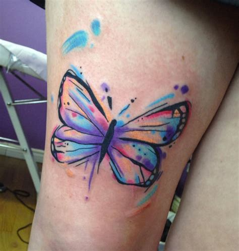 watercolor butterfly tattoo design unique butterfly
