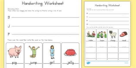 handwriting worksheets letter formation australia