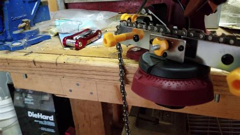 Harbor Freight Chicago Electric chainsaw sharpener   YouTube
