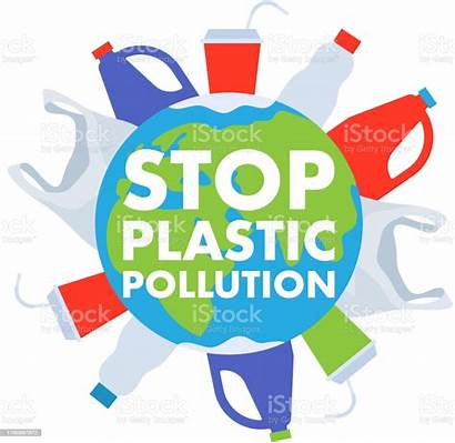 Pollution Plastic Poster Stop Earth Trash Globe