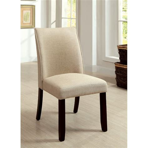 furniture of america janna upholstered dining chair set
