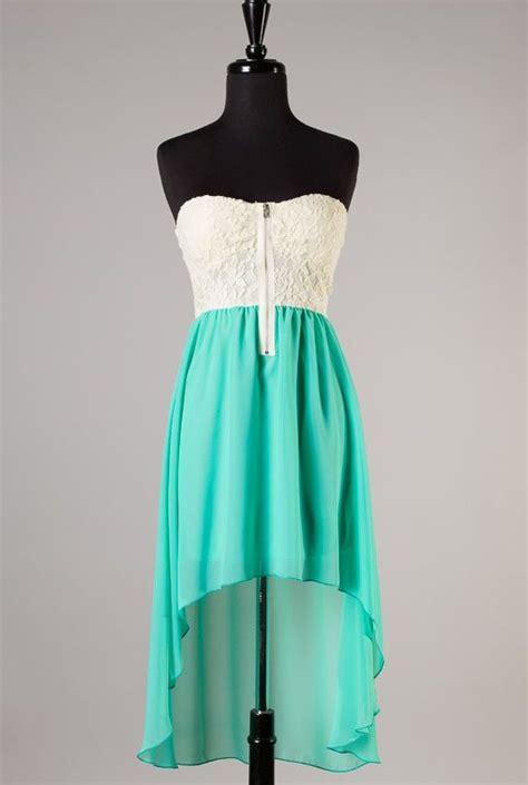 summer memories lace strapless sweetheart high  dress