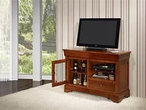 Meubles En Bois Massif : meuble tv 16 9eme marianne en merisier massif de style ~ Melissatoandfro.com Idées de Décoration