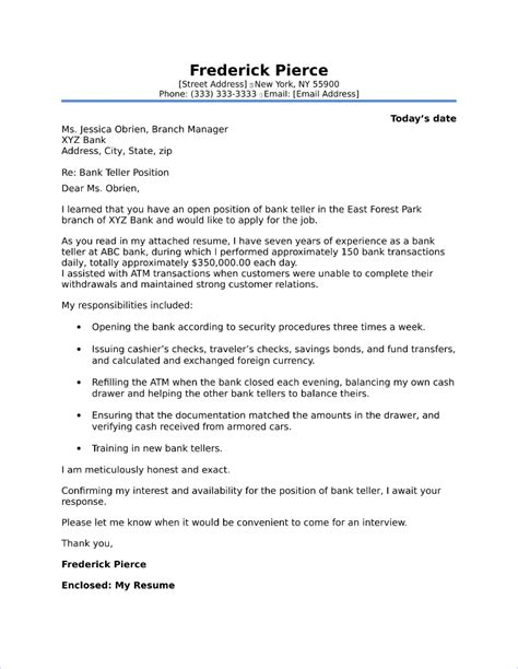 Cover Letter Sle Bank Teller by Investment Banking Cover Letter Sle
