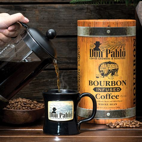 At don pablo coffee, we believe that a cup of coffee is never just a cup of coffee. Don Pablo Bourbon Infused Specialty Coffee // 25 oz - Don ...