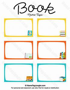 free printable book name tags the template can also be With free school labels template