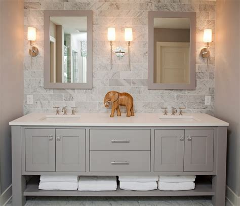 pretty bathroom vanity backsplash ideas  wood trim