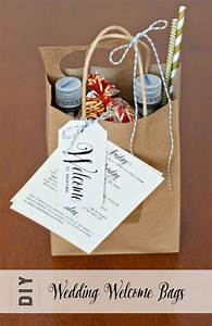 Welcome bags we made for our phoenix az wedding in april for Wedding welcome gift bags