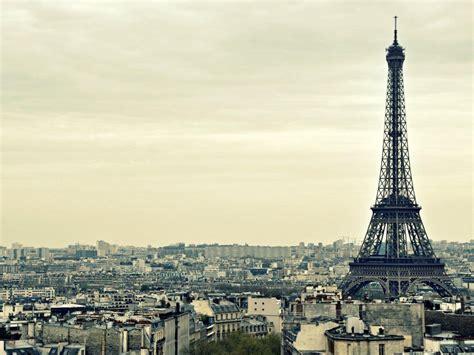 menara eiffel bangunan paris desktop gambar background hd