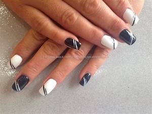 Eye Candy Nails & Training - Acrylic nails with black and ...