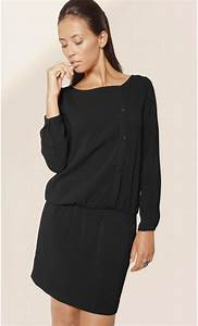 long sleeve asymmetrical crepe dress mondefilecom With robe lainage manches longues