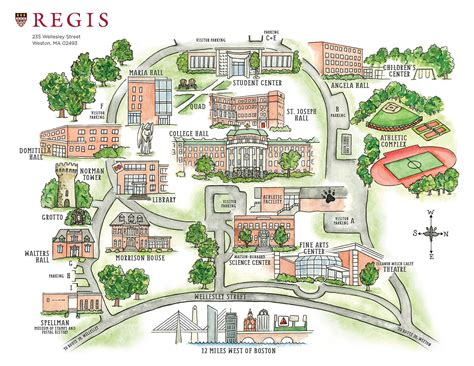 campus map regis college