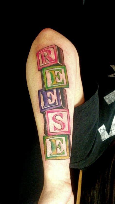 daughters   baby blocks tattoo tat ideas