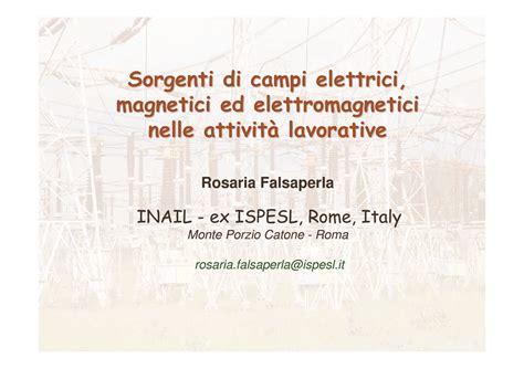 Ci Elettromagnetici Dispense by Sorgenti Di Ci Elettromagnetici Su Luoghi Di Lavoro