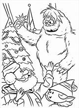 Coloring Pages Yeti Snowman Abominable Getdrawings sketch template