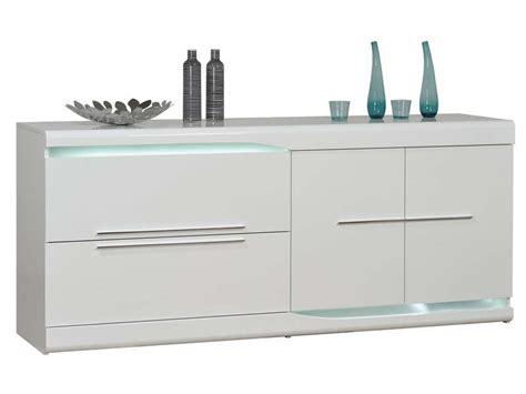 meuble bas cuisine 120 cm buffet 2 tiroirs 2 portes ovio coloris blanc laqué