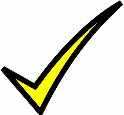 Mark Check Yellow Clip Clipart Vector Clker