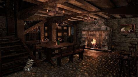 model medieval city tavern vr ar  poly obj ds