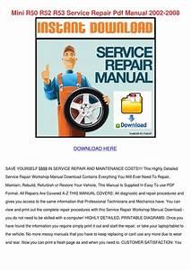 Mini R50 R52 R53 Service Repair Pdf Manual 20 By
