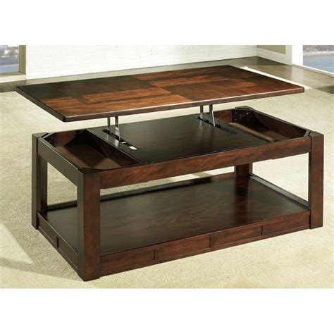 somerton serenity lift top coffee table in rich burgundy