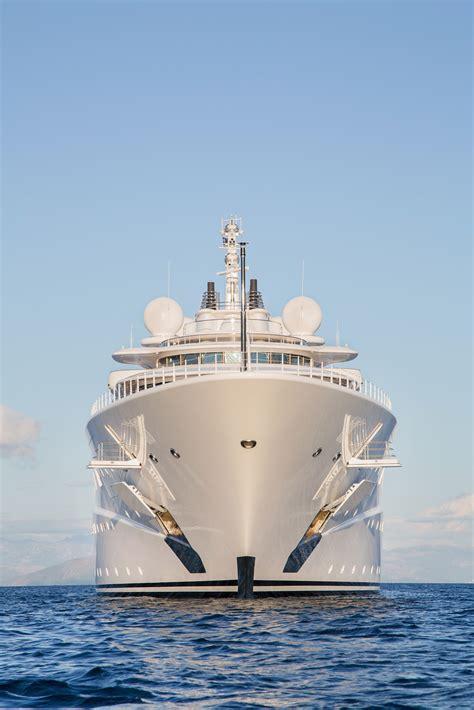 Gigantic Big And Large Luxury Mega Or Super Motor Yacht On ...