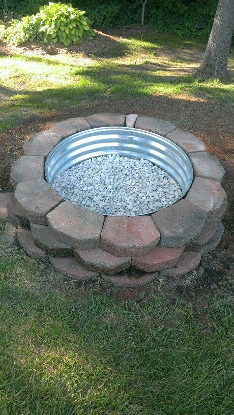 Fire Pit Diy Landscaping Blocks, Metal Ring, Marble White