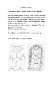 picture dictation images worksheets teaching