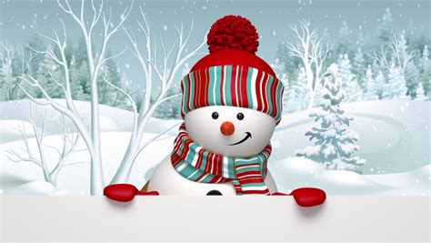 Animated Snowman Wallpaper - snowman looking out the wall greeting card