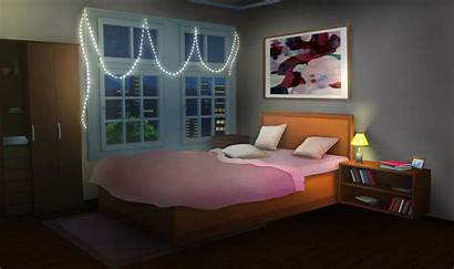 Pink Bedroom Night Bed Anime Int Episode