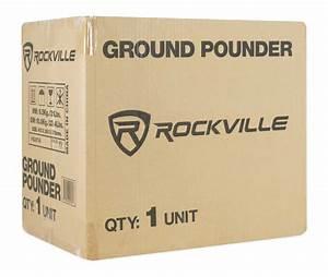 Rockville Ground Pounder 800 Watt Powered Dual 10 U0026quot  Loaded
