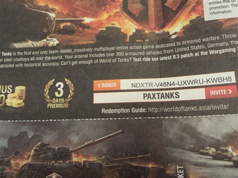 Promo Code - General Discussion - Official Forum - World of Tanks