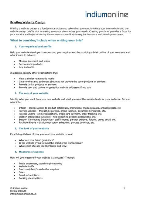 briefing website design