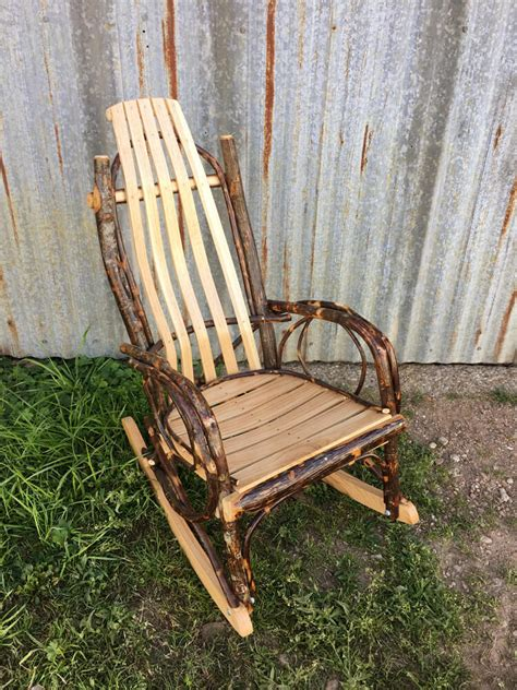 amish bent hickory child s rocker w oak and hickory