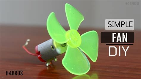 how to make simple fan using dc motor