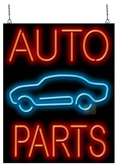 Neon Am Service Sign Signs Parts Prop