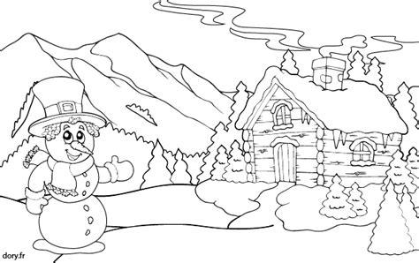 coloriage un chalet de montagne dory fr coloriages