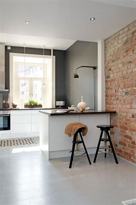 exposed brick kitchen 20 minimalist kitchens with exposed brick walls home