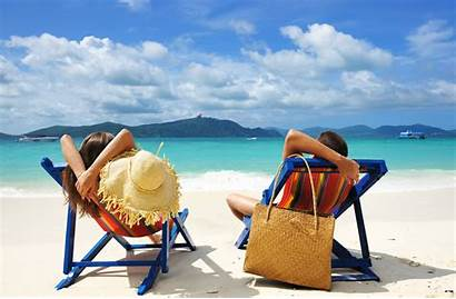 Beach Relaxing Vacation Couple Sea Nature Tropical
