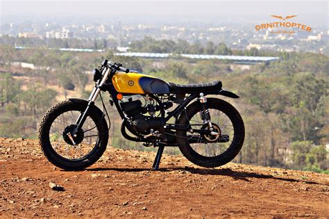 Modification Motor Yamaha by Scrambler Modification Using Yamaha Rx 100