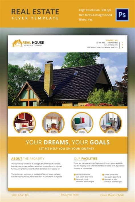 Real Estate Brochure Templates Psd Free by Real Estate Flyer Template 37 Free Psd Ai Vector Eps